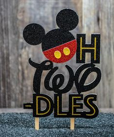Oh Two-dles Mickey Mouse Cake Topper