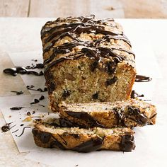 Curb your chocolate cravings with these dark chocolate-drizzled zucchini bread. More zucchini bread recipes: http://www.bhg.com/recipes/bread/zucchini-bread1/?socsrc=bhgpin021213chocozucchinibread