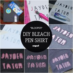 DIY Personalized Bleach Pen Shirt via Sophistishe.com