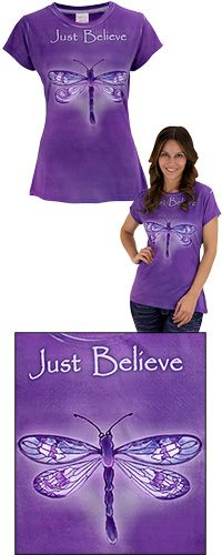 Just Believe Dragonfly Tee at The Veterans Site