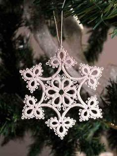 Tatting history, tatted snowflake