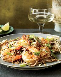 Soba Noodles with Grilled Shrimp and Cilantro Recipe