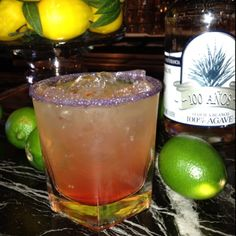 Honu's Sunset Margarita Cocktail was created to celebrate the 100th Anniversary of the Huntington Lighthouse