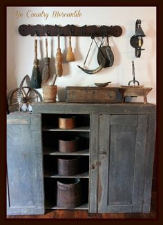 Blue Cabinet ...