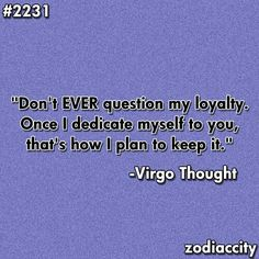 Virgo thoughts