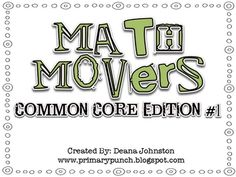 Math Movers is a fun, engaging whole group math game to review math skills!  Math Movers has students move around the room in pairs, incorporating ...