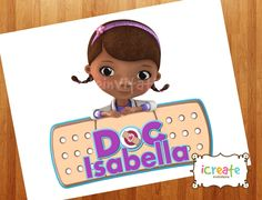 Doc McStuffins Birthday Sign  Printable by iCreateInvitations, $2.99