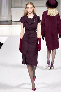 fashion weeks, la renta, style, de la, dress, 2011 readytowear, readytowear oscar, oscar de, fall 2011