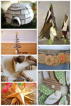 DIY Cardboard Christmas - tutorial roundup ... #upcycle #recycle #repurpose
