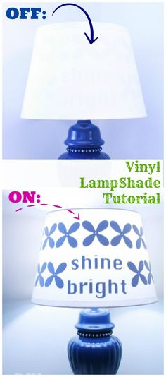 Decorating a Lamp Shade with Vinyl