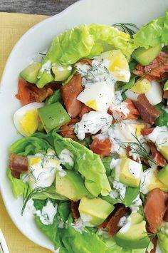 Smoked-Salmon Cobb Salad [ 4LifeCenter.com ] #food #life #health