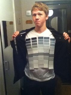 Funny! 50 Shades of Grey Halloween costume.