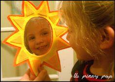 LDS Primary Chorister Ideas: Nursery Props #1 - Sunbeam Mirror