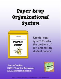 "Paper Drop Organizational System - No more papers turned in without names or ""lost"" papers that don't get turned in at all!"