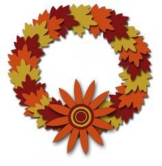 AUTUMN / FALL WREATH, CLIP ART