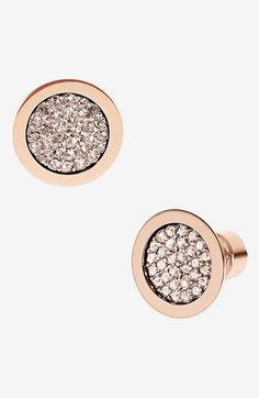 Michael Kors 'Brilliance' Stud Earrings available at #Nordstrom  Need these and pretty much everything else rose gold.