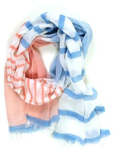 Summer Beach House Scarf: Sky