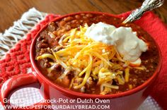 Best Homemade Chili in Crock-Pot or Dutch Oven