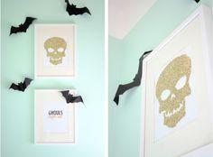 DIY Glitter Skull Print