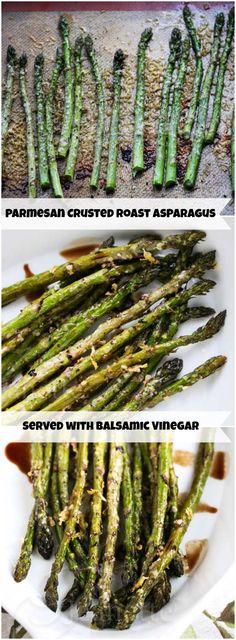 Roasted Asparagus with Parmesan Crust © Jeanette's Healthy Living  #Spring #asparagus #glutenfree #easy #recipe
