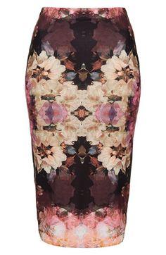 Topshop 'Bruised Floral' Print Tube Skirt | Nordstrom