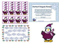 Penguin Plurals - Re-pinned by @PediaStaff – Please Visit http://ht.ly/63sNt for all our pediatric therapy pins