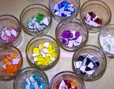 great mosaic tips and ideas for making mosaics with kids (glittering shards)