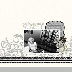 Divine #Wedding Digital #Scrapbooking Layout from Creative Memories    http://www.creativememories.com