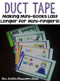 Using Duct Tape for Making Mini-Books Last Longer  If you like Duct Tape please follow our boards!