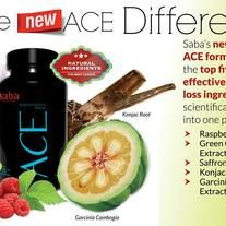 Saba's new exclusive ACE formula contains the TOP 5 most effective weight loss ingredients scientifically formulated into one pill!