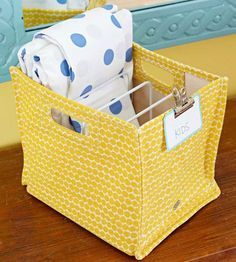 Sort sheets for each bedroom into designated bins. That way, finding the right linens for a specific room is a snap. Place a coated metal pan rack inside the bin to separate sets to make it easy to grab all the pieces when it's time to change the sheets.