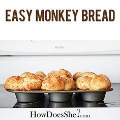 EASY, Can't go Wrong: Monkey Bread! YUMMY!! Recipe at HowDoesShe.com