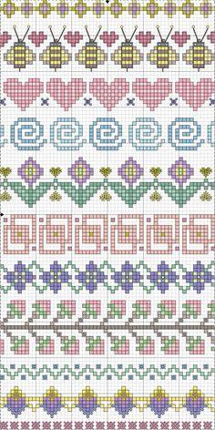 Cross stitch borders/motifs