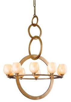 "Cirque Collection Champagne Leaf 38"" Wide Chandelier"