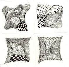 Zentangle- One step up from Doodling....amazing