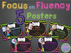 """Focus on Fluency Posters {FREEBIES!} .....Follow all RED DIAMOND BOARDS for the Best FREE """"too-neat-not-to-keep"""" teaching tools & other fun stuff :)"""