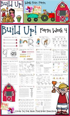 Free Build Up Summer Learning: Week 4 - Farm from 3 Dinosaurs http://3dinosaurs.com/wordpress/index.php/build-up-summer-learning-week-4-farm/ and Royal Baloo http://royalbaloo.com/build-up-to-summer-learningweek-4-farm-theme/