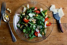Arugula and Corn Salad With Roasted Red Peppers and White Bean - NYTimes.com