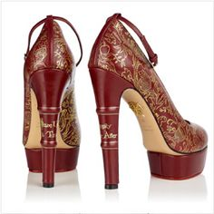 Book spine heels by Charlotte Olympia