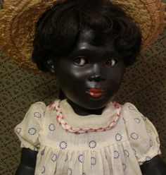 Wonderful Black character doll with Flirty eyes from jmenagerie on Ruby Lane