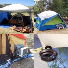 Some folks seem to have it all figured out!! How do you stay cool when you're out camping in the summer? #camping #camplife #outdoors #summer #campingtips #campgrounds