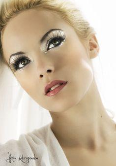 Shimmer makeup. Love it!!
