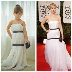 little girls, red carpet looks, paper dresses, paper fashion, red carpets