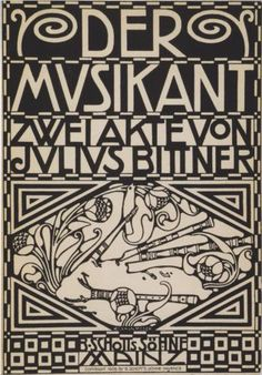 Envelope for the score to the opera Julius Bittner's opera 'The musician' - Koloman Moser. Lovely art nouveau style