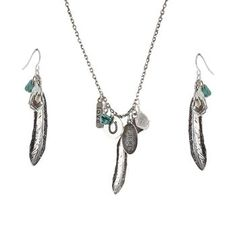Shyanne® Women's Feather Charm Jewelry Set