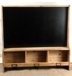 """30"""" Chalkboard Cubby Shelf  with 3 Hooks  $75 each/ 2 for $70 each"""