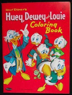 Huey, Dewey and Louie Coloring Book 1961