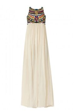 Aztec top maxi dress