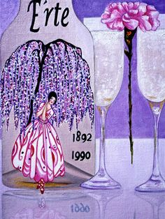 Erte Impression, by K Madison Moore. Erte Wine Label
