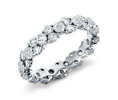 Push Gift | Garland Diamond Eternity Ring in Platinum #BlueNile
